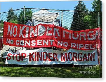 Canvas Print featuring the photograph Protest Signs by Bill Thomson