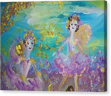 Proud Fairies Keep On Rolling Canvas Print by Judith Desrosiers