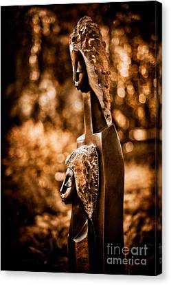 Proud Of My Daughter Canvas Print by Venetta Archer