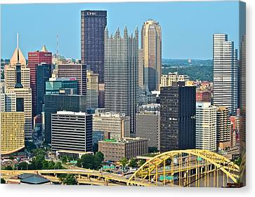Upmc Canvas Print - Proud Pittsburgh by Frozen in Time Fine Art Photography