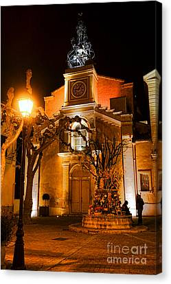 Canvas Print featuring the photograph Provencal Night by Olivier Le Queinec