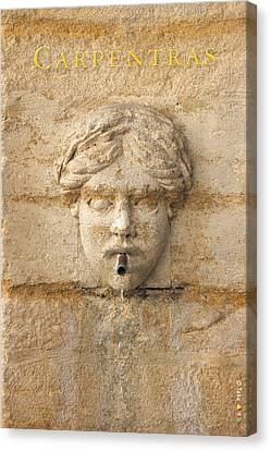 Provence Fountain 1 Carpentras Canvas Print by Philippe Taka