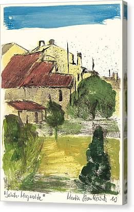 Canvas Print featuring the painting Provence Landscape Sainte Marguerite by Martin Stankewitz