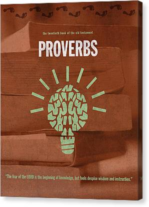 Proverbs Books Of The Bible Series Old Testament Minimal Poster Art Number 20 Canvas Print