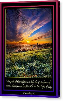 Bible Verse Canvas Print - Proverbs by Phil Koch
