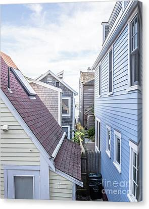 Provincetown Alley Cape Cod Canvas Print by Edward Fielding