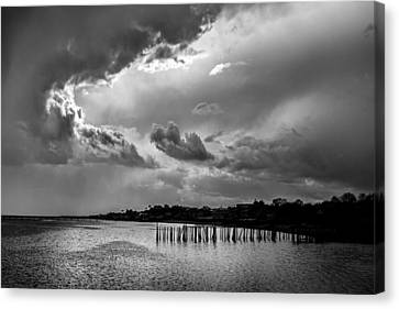 Canvas Print featuring the photograph Provincetown Storm by Charles Harden