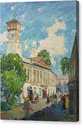 Provincial Russian City Canvas Print by Juliya Zhukova