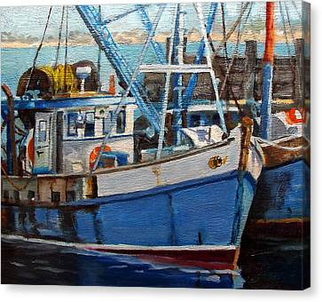 Provinctown Fishing Boats Canvas Print by Michael McDougall