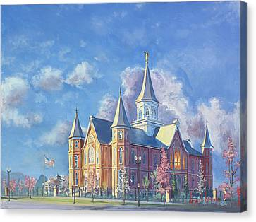 Provo City Center Temple Canvas Print by Jeff Brimley