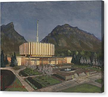 Provo Spring Evening Canvas Print by Jeff Brimley
