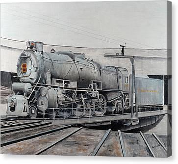 Prr M1 On Turntable Altoona Pa Canvas Print by Paul Cubeta