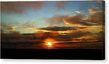 Prudhoe Bay Sunset Canvas Print by Anthony Jones