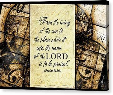 Psalm 113 3 Canvas Print by Gary Bodnar