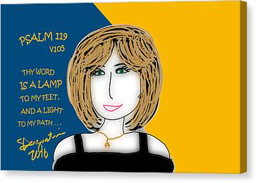 Psalm 119     2016 Canvas Print by Sharon Augustin