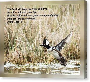 Psalm 121 7-8 Canvas Print by Dawn Currie