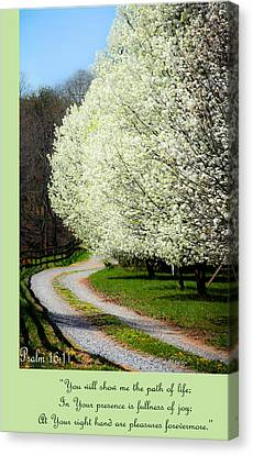 Psalm 16 11 Canvas Print