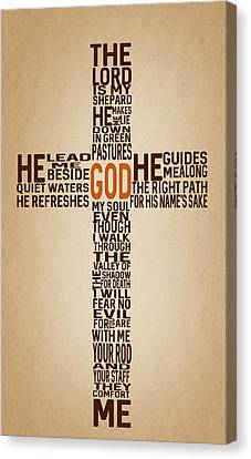 Psalm 23 Canvas Print by Art Spectrum