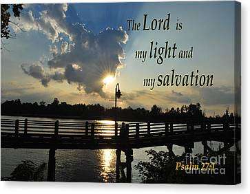 Psalm 27 Canvas Print by Bob Sample