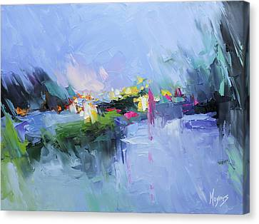 Psalm 29 God In The Storm Canvas Print by Mike Moyers