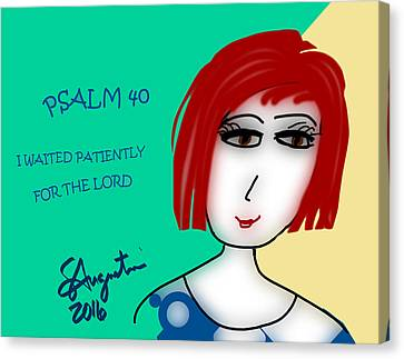 Psalm 40     2016 Canvas Print by Sharon Augustin