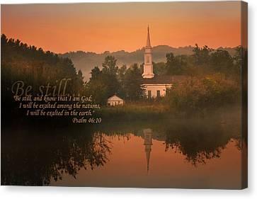 Psalm 46.10 Canvas Print