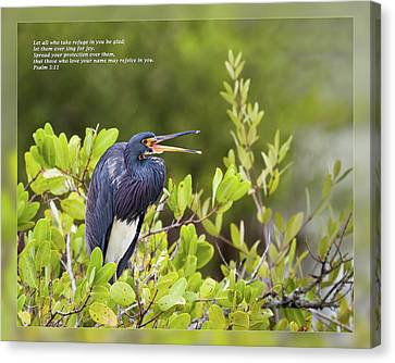 Psalm 5 11 Canvas Print by Dawn Currie