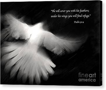 Psalm 91 Canvas Print by Glennis Siverson