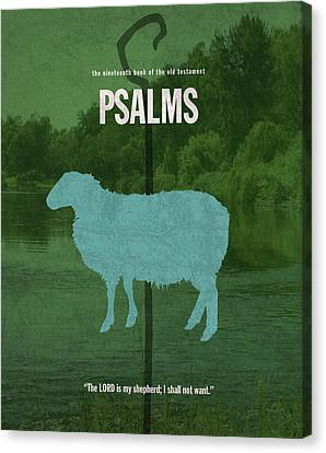 Psalms Books Of The Bible Series Old Testament Minimal Poster Art Number 19 Canvas Print