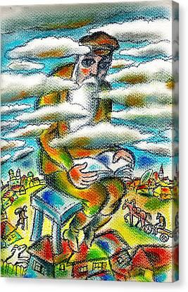 Psalms, The Ladder Of Jacob Canvas Print by Leon Zernitsky