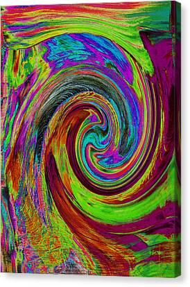 Pscholdelic Surfs Up Canvas Print by Wayne Potrafka
