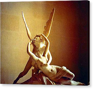 Lourve Canvas Print - Psyche And Cupid by Michael Durst