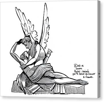 Reviving Canvas Print - Psyche Revived By Cupid's Kiss by Patrick Dea
