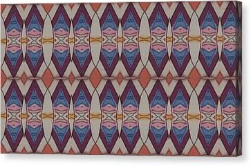 Psychedelic 2 5 17 Canvas Print by Modern Metro Patterns and Textiles