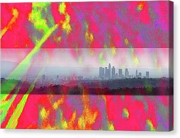 psychedelic energy of Los Angeles Canvas Print by Viktor Savchenko