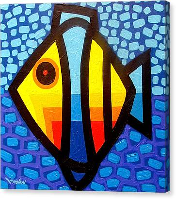 Expressionistic Canvas Print - Psychedelic Fish by John  Nolan