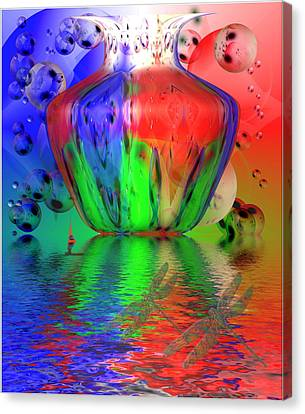 Canvas Print featuring the photograph Psychedelic Flight by Joyce Dickens