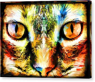 Psychedelic Kitty Cat Canvas Print by Melissa Bittinger