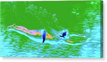 Psychedelic Makua Mermaid Canvas Print by Erika Swartzkopf