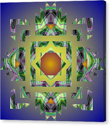 Psychedelic Mandala 002 A Canvas Print by Larry Capra