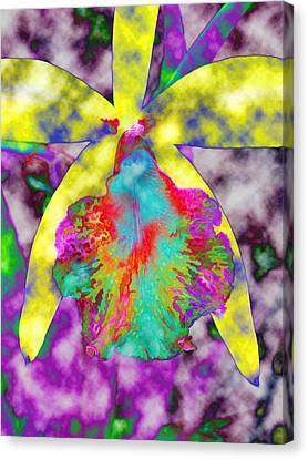 Shrooms Canvas Print - Psychedelic Orchid by Bruce Roker