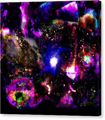 Psychedelic Rainbow Nebula Galaxy Universe Canvas Print by Abram Lopez