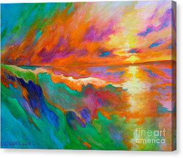 Psychedelic Sea Canvas Print by Alison Caltrider