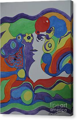 Psychedelic Sixties Canvas Print by Lise PICHE