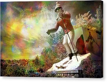 Psychedelic Skier Canvas Print
