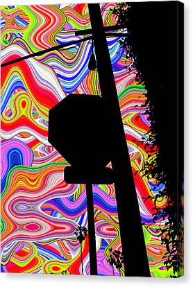 Psychedelic Sky Canvas Print by Phill Petrovic