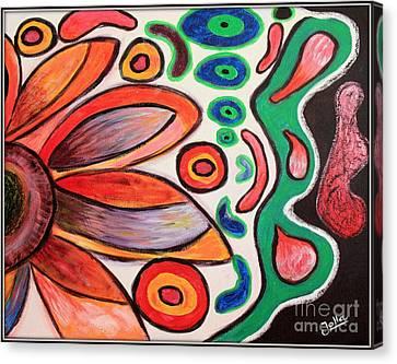 Canvas Print featuring the painting Psychedelic Summer by Jolanta Anna Karolska