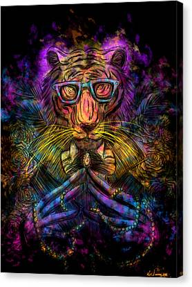 Psychedelic Tiger Canvas Print by Kita Liosatos