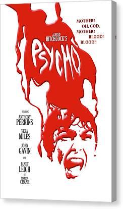 Psycho Canvas Print by Ron Regalado