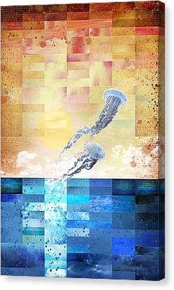 Canvas Print featuring the digital art Psychotropic Rhythms by Christina Lihani